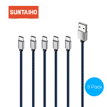 Suntaiho [5-Pack] USB Type C Cable Fast Charging & Sync Data Cable for Samsung Xiaomi OnePlus Mobile Phone USB C Cable