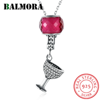BALMORA New 100 Real 925 Sterling Silver Unique Pendant Necklaces For Women Gift Fashion Jewelry Silver