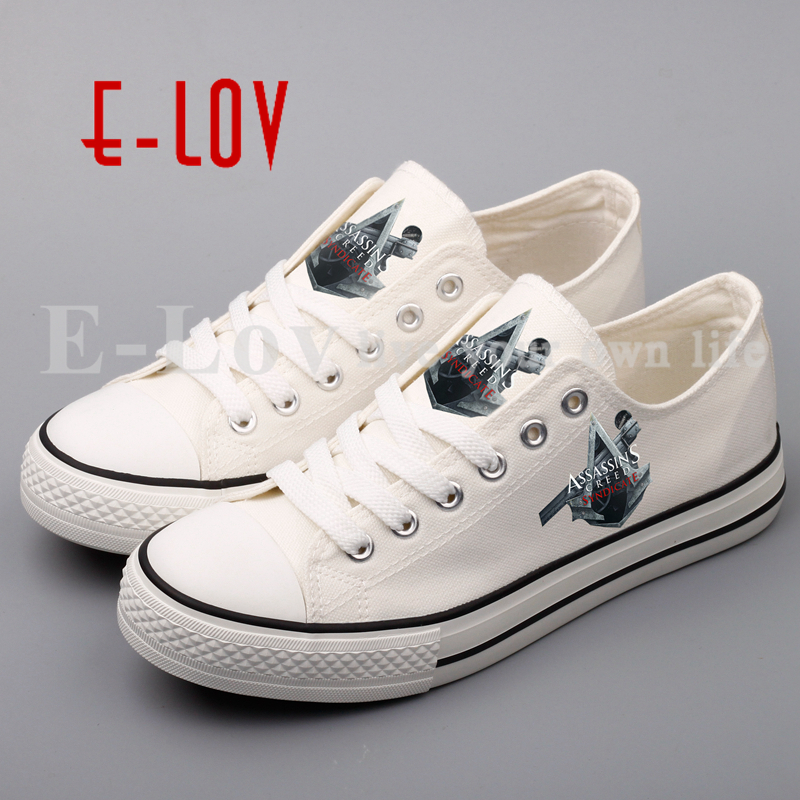 Hot Cosplay Assassins Creed Printed Unisex Women's Canvas Shoes Hip Hop Streetwear Girls Casual Shoes Woman sapatos femininos