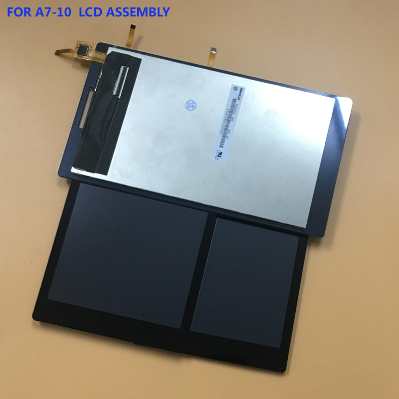For Lenovo Tab 2 A7-10 A7-20 A7-20F Full Black Touch Screen Digitizer Glass Sensor + LCD Display Panel Monitor Module Assembly original full lcd display touch screen digitizer glass assembly for lenovo tab 2 a7 30 a7 30gc free shipping