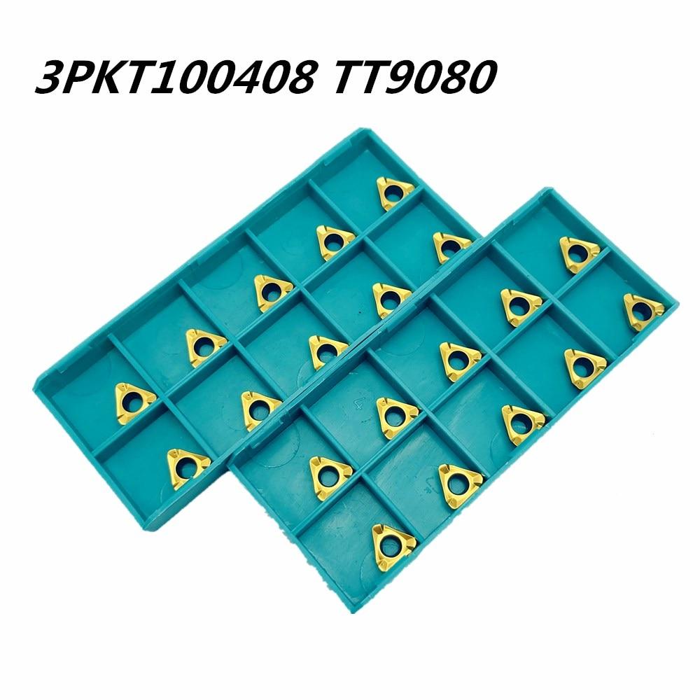 100PCS Turning tool 3PKT100408R M TT9080 new high precision internal milling milling carbide tool CNC end