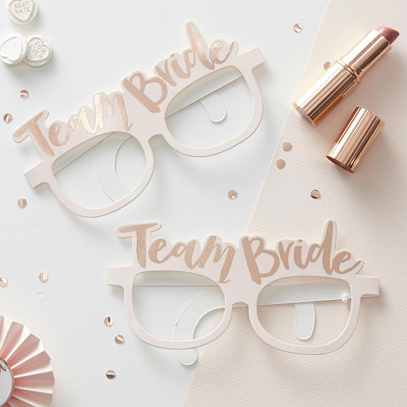 chicinlife 1pcs team bride glasses hen party ideas bride to be card glasses fun bachelorette games
