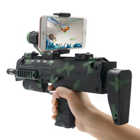 Mobile Augmented Virtual Reality Plastic Bluetooth4 0 AR Toy Gun In Camouflage Color For Android IOS