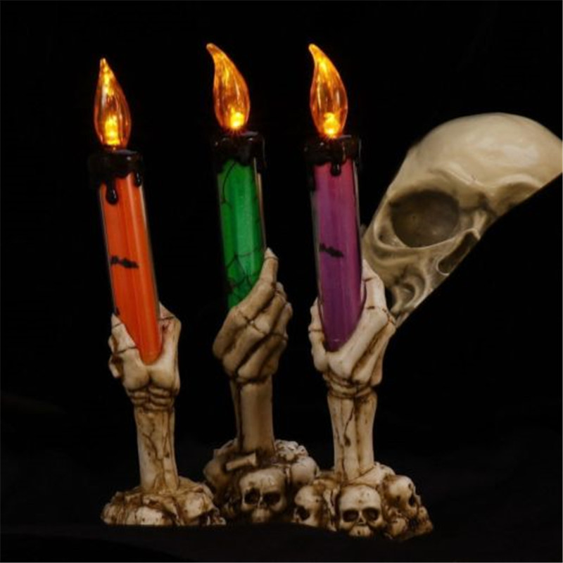 Electronic Halloween Decorations: 2018 New Halloween Bar Candle Decoration Halloween Skull