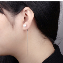 Drop Earrings Jewelry for Women Fashion Design Stainless Steel Long Earrings Two Color Korean Style цена 2017