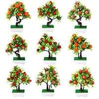 45# Unfading 1Pc Artificial Flower Fruit Tree Design Miniascape Wedding Party Home Desk Bonsai Home Decor
