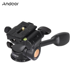 Andoer Head Tripod-Ball Monopod 3-Way-Fluid-Head Quick-Release-Plate Video Q08 Dslr-Camera