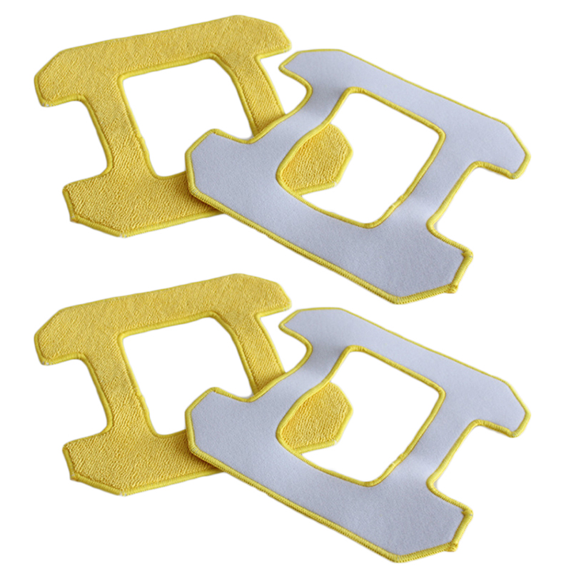 Parts Tools Kit Replacement Attachment Accessories Mop cloth 4pcs For HOBOT 268 Cleaning Yellow Vacuum cleaner in Tool Parts from Tools