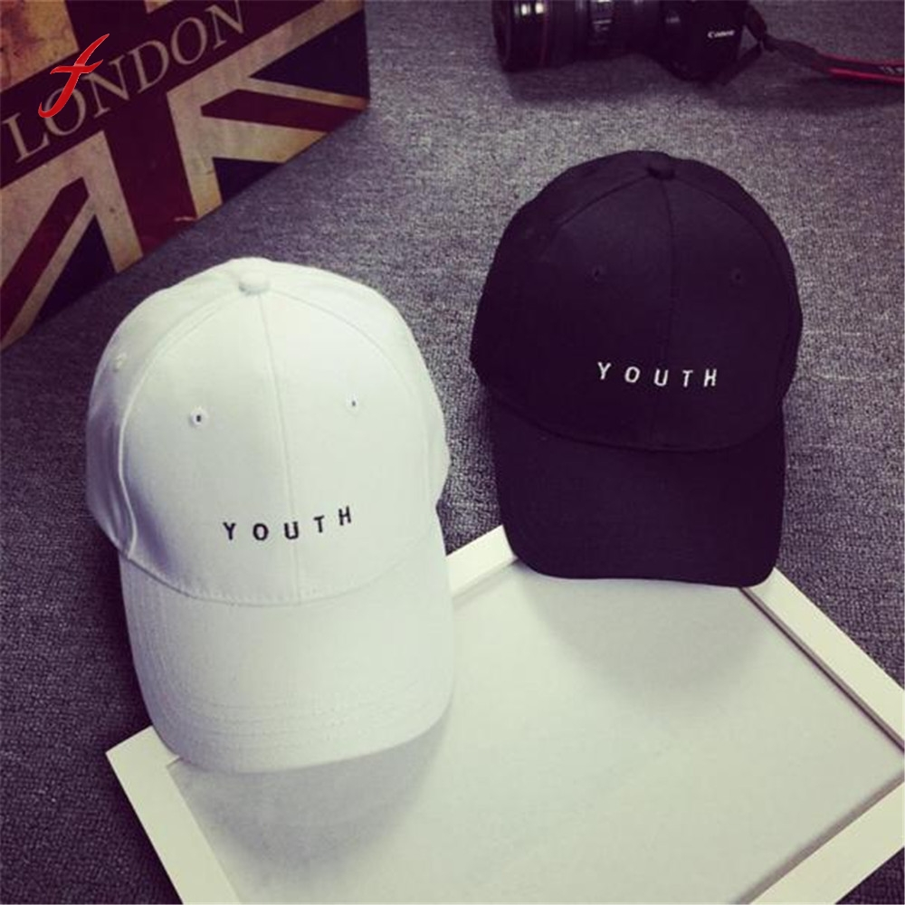 0b37c8cee US $2.91 19% OFF|Feitong Fashion Cap Women Men Summer Cotton Caps Women  Letter Solid Adult baseball Cap Black White Hat Snapback Women Cap 2019-in  ...