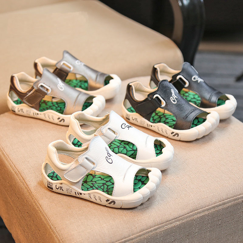 2017 Summer new design children sandals boys genuine leather fashion shoes kids high quality comfort casual
