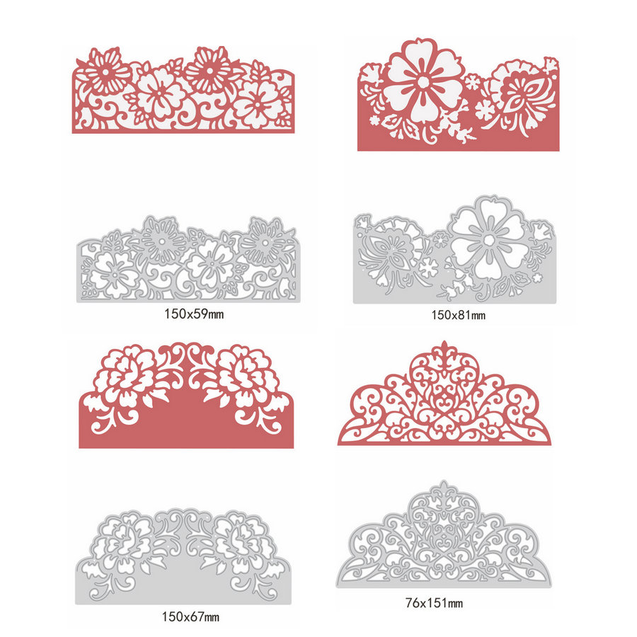 Kimnny Scrapbooking Cutting Dies Stencil,Oval Background Dies Craft Die Metal Cutting Dies Cut for DIY Paper Card Making Scrapbooking
