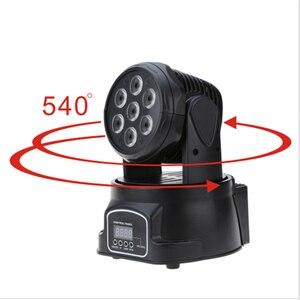 Image 5 - RGBW moving head strahl licht 7*10 watt disco musik steuerung lampe DMX dj par ausrüstung party lichter