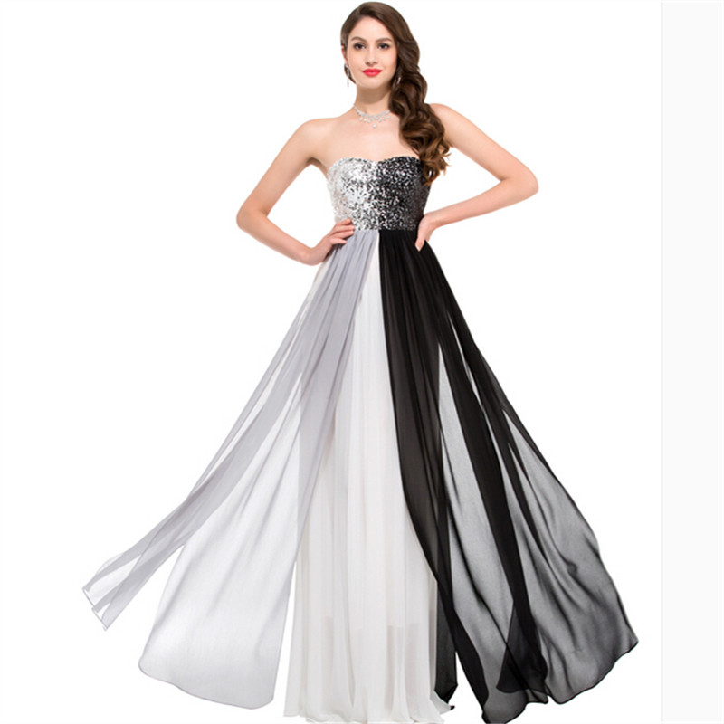 Popular Long Strapless Sweetheart Sequin Dress-Buy Cheap Long ...