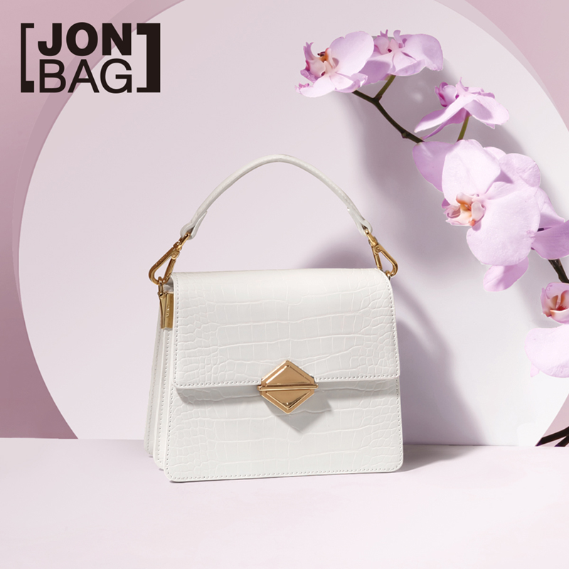 JONBAG white bag 2019 new fashion simple small pack chain single shoulder oblique bag bag womens bagJONBAG white bag 2019 new fashion simple small pack chain single shoulder oblique bag bag womens bag