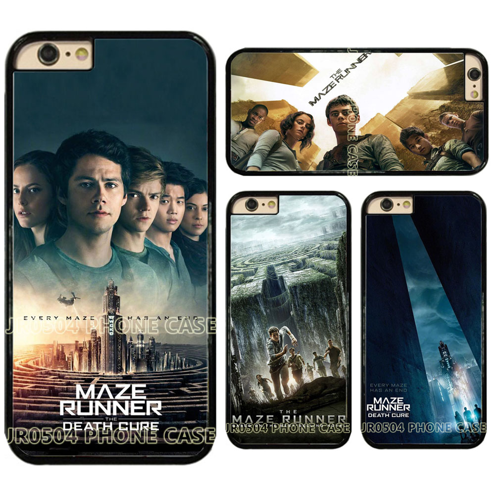 JR0504 Maze Runner The Scorch Trials The Death Cure PC+TPU edge Case Cover For iphone X 5s 6s 7 8 Samsung s6 s7 s8 J5 2016 280
