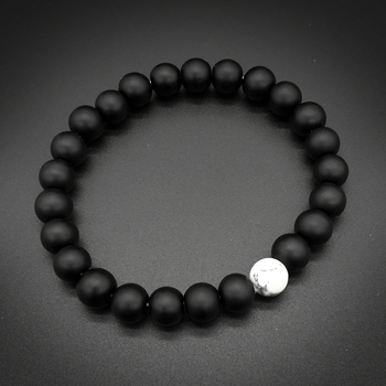 2Pcs/Set Bracelet Classic White and Black Yin Yang 5