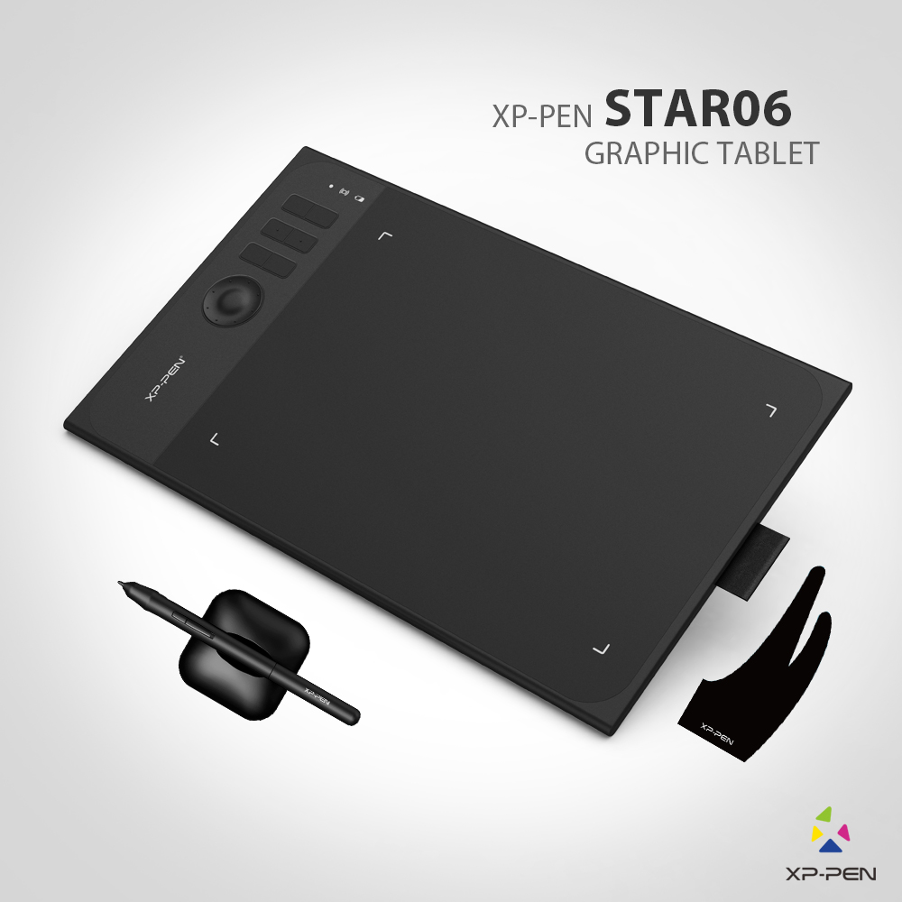New XP-Pen Star06 Wireless 2.4G Graphics Drawing Tablet Painting Board with 8192 levels Battery-free Passive Stylu xp pen artist22e fhd ips pen display monitor graphics drawing tablet with 16 express keys
