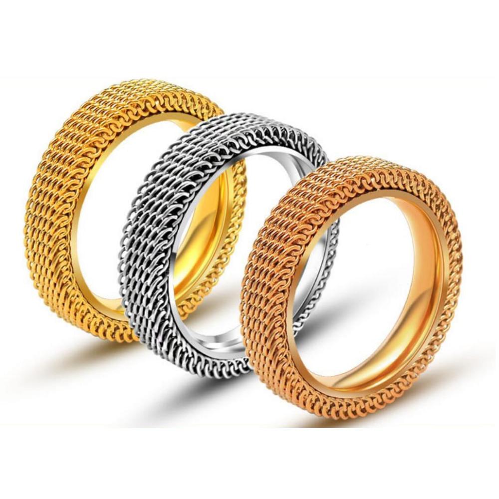 K Gold Statement Rings