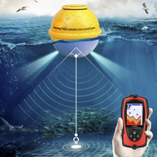 "Lixada 2.4"" HD LCD Fish Finder Wireless Rechargeable Sonar Sensor Ocean 45m/145FT Fish Finder Shallow Alarm Fish Detector Pesca"