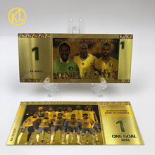 Banknote Brazil Souvenir Collection Gifts Gold-Plated Russia-Sport for And Football Fans