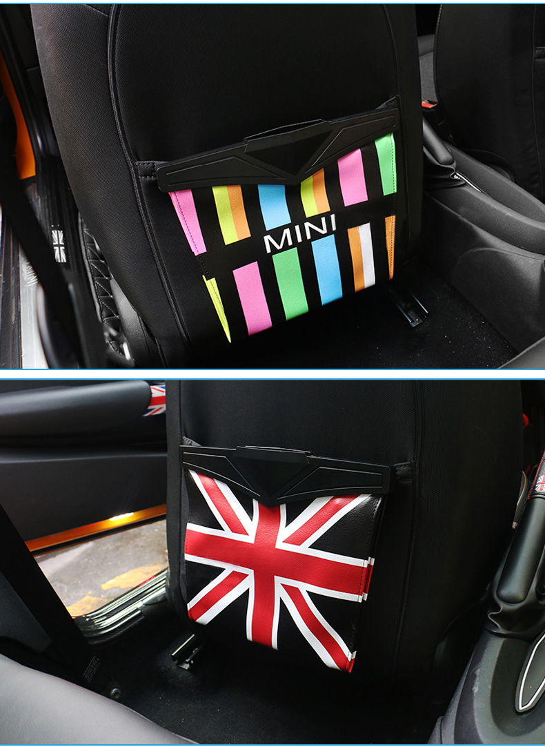 Leather Car Seat Storage Bag Trash Bag Basket for Mini Cooper R55 R56 R57 R58 R59 F54 F55 F56 F57 Countryman R60 F60 (6)