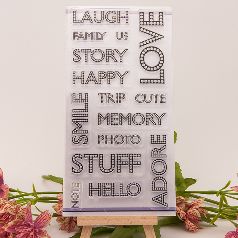 Scrapbook DIY photo cards account rubber stamp clear stamp finished transparent chapte 10x20cm T-0211 free shipping цена