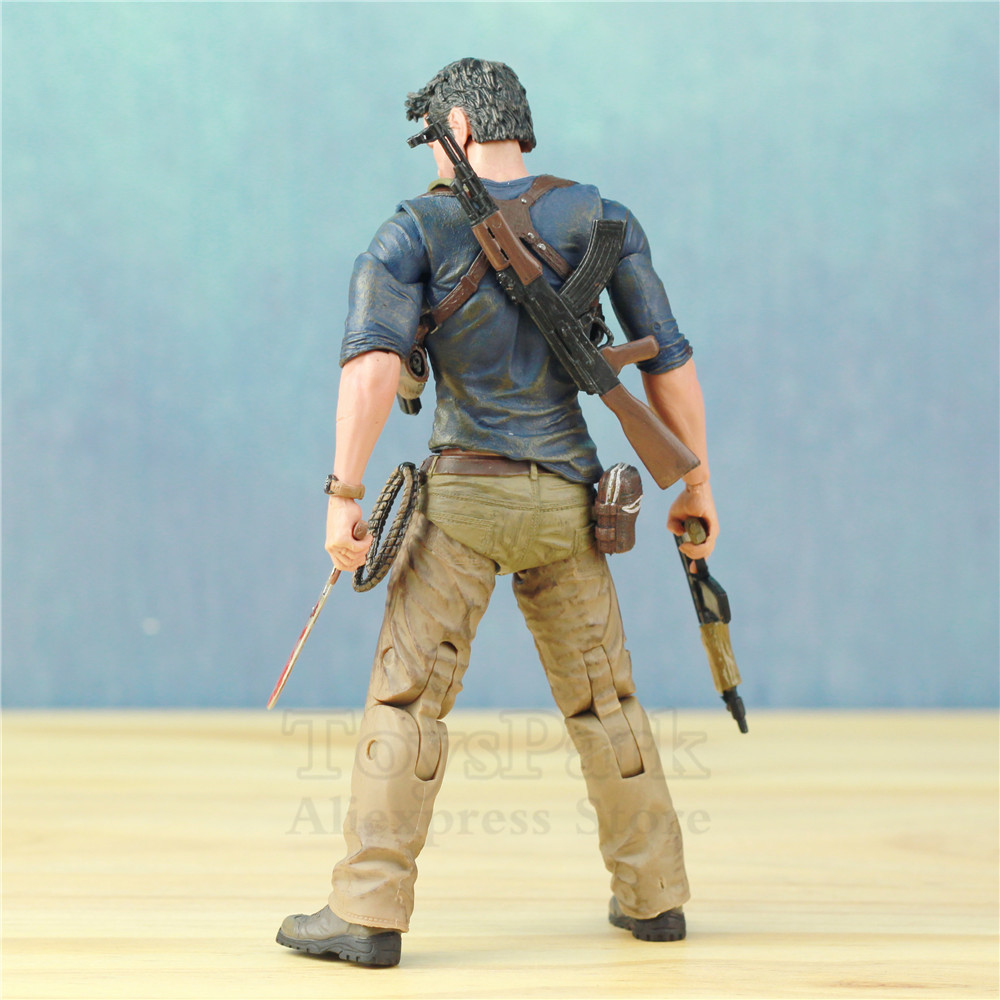 "Image 2 - Uncharted 4 A Thief's End Ultimate Nathan Drake 7"" Action Figure Doll Toys KO's NECA Video Game Sony PS4 Naughty Dog Collectible-in Action & Toy Figures from Toys & Hobbies"