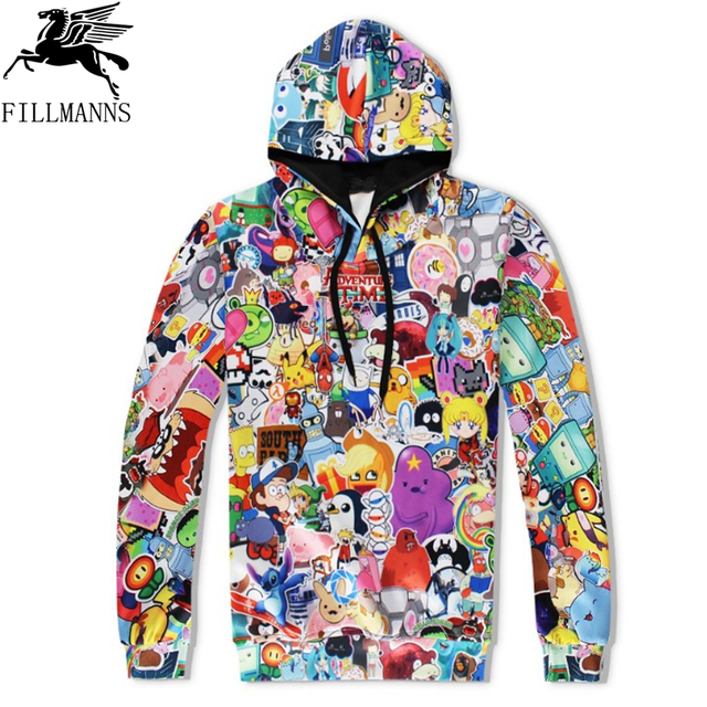 N  Rick and Morty men hoodies sweatshirts 3D Print cotton sweatshirt Hooded Unisex Scientist Anime Hoodies men/women clothing  1