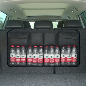 Image 2 - Auto Car Organizer Trunk Back Seat Universal Storage Bag Mesh Net Pocket Bag 4 Colors