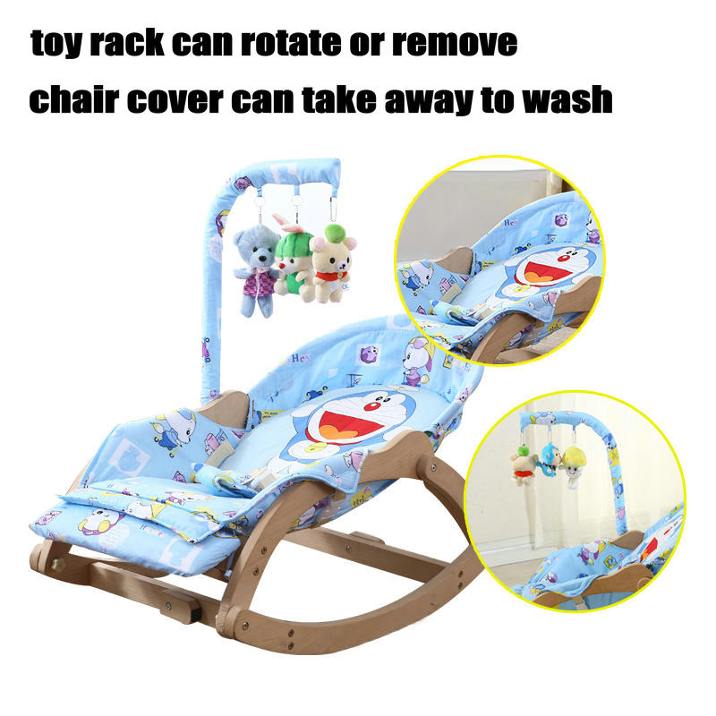 Beech Wood Baby Rocking Chair with Rotating Toy Rack Foldable 5 Grade Adjust Baby Cradle Portable Beech Wood Baby Rocking Chair with Rotating Toy Rack, Foldable 5 Grade Adjust Baby Cradle, Portable Rocking Chair