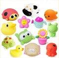 6 pçs/lote Brinquedos para o Banho na Barthroom Crianças Brinquedos De Água para Brinquedos para Meninos Das Meninas do bebê de Borracha Macia de Borracha Animal de Mar juguetes