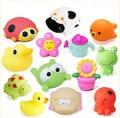 6 unids/lote Juguetes de Baño en el Cuarto de Baňo Niños Juguetes de Agua para de Goma Suave del bebé Juguetes para Niños Niñas De Goma Animal de Mar juguetes