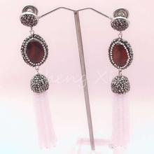 gem earring fashion charming lady pendant jewelry