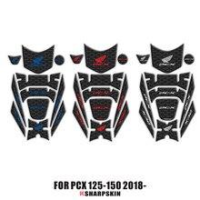 3Dフェアリングガスキャップタンクパッド保護ホンダpcx 125 150 PCX125 PCX150 2018 2019