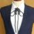 Nova MODA Frete Grátis MEN masculina de Poirot led Clube sediou festa corda laço colarinho da camisa personalidade MC noivo acessórios EM venda