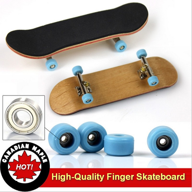 32mm Basic Complete Wooden Pro Fingerboard Finger Skateboard Maple Quality Feel