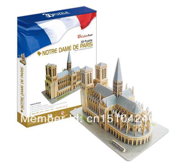Notre Dame de Paris CubicFun 3D educational puzzle Paper & EPS Model Papercraft Home Adornment for christmas birthday gift wat phra kaew cubicfun 3d educational puzzle paper