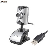 AONI Webcam Compute Camera Free Drive 3 LED Night Vision Web Cam With Built-in Sound Microphone For PC Notebook USB HD Cameras