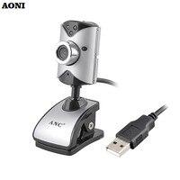 AONI Webcam Tính Toán Máy Ảnh Ổ Đĩa Miễn Phí 3 LED Night Vision Web Cam Với Xây Dựng Trong Âm Thanh Microphone Cho PC Máy Tính Xách Tay USB HD Máy Ảnh