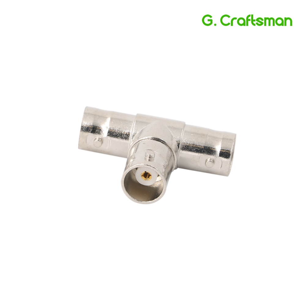 Female To Dual 2 Female T-Splitter BNC Connectors Adapter Camera Surveillance Accessories RG59 CCTV System AHD B02 G.Craftsman
