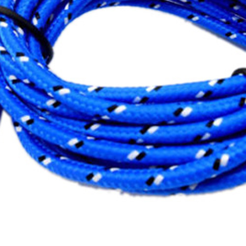 Top Deals 2M Braided Fabric Micro USB Data Sync Charger Cable Cord For Cell Phone Blue