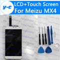 For Meizu MX4 LCD Display+Touch Screen 100% New Digitizer Glass Panel Replacement For MX4 1920*1152 5.36'' Phone-Free Ship