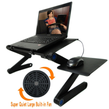 цены Portable Foldable Adjustable Table for Laptop Computer Notebook Stand Desk Sofa Bed Lap Tray Built in Cooling Fan with Mouse Pad