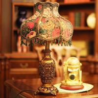 Европейский пастырской создание Смола настольные лампы для Свадебные украшения ретро настольная лампа, Спальня ночники 1120