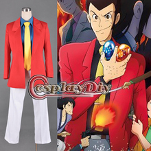 Lupin III Necklace of Cleopatra Arsene Lupin Cosplay Costume For Adult Men's Halloween Custom Made