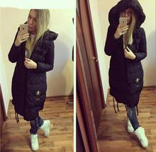 Ukraine Top Fashion Solid Zipper Wide waisted Thick Full 60 2016 New Women Winter Coat Casual