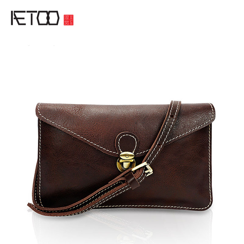 AETOO The new leather handbags head cowhide handbag fashion European and American style shoulder bag new tide messenger bag dtbg pu leather women handbag fashion european and american style totes messenger bag original design briefcase zipper 2017