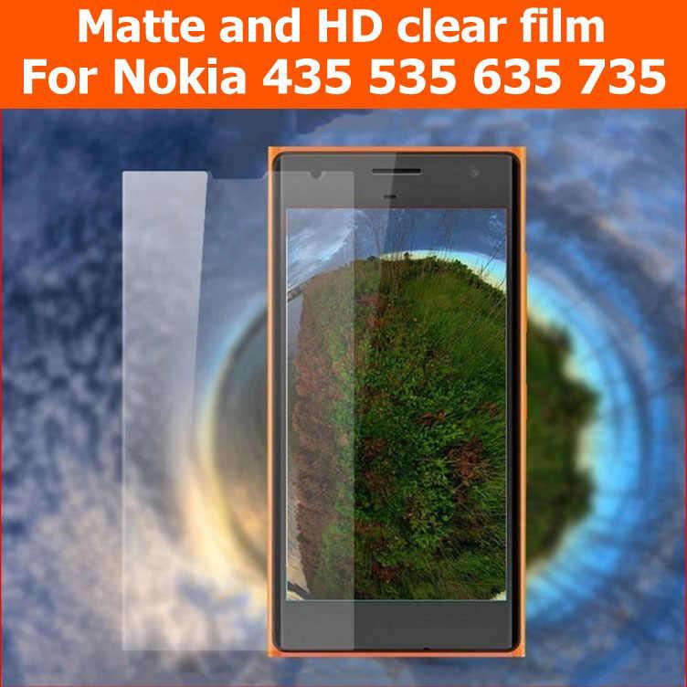 حماية الشاشة HD واضح فيلم لامع لمايكروسوفت lumia 435 535 مكافحة وهج ماتي فيلم ل نوكيا 635 735 لوحة ال سي دي الحرس + القماش