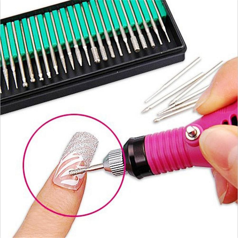ᗗ30pcs/lot Nail art tools Electric Nail File Drill machine Bits ...