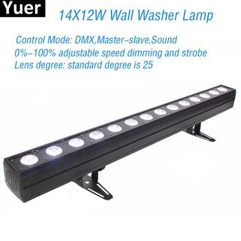 جديد ديسكو الإضاءة 14X12 واط RGBWA-UV 6IN1 وحدة إضاءة LED جداريّة غسل ضوء DMX LED حفلة بار المرحلة تأثير أضواء DJ الموسيقى الألوان مصباح